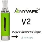 Clearomizer Anyvape EVOD BCC V2 2,1ohm 1,6ml Green