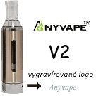 Clearomizer Anyvape EVOD BCC V2 2,1ohm 1,6ml Silver
