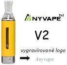 Clearomizer Anyvape EVOD BCC V2 2,1ohm 1,6ml Yellow