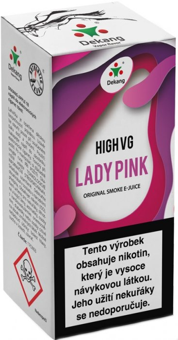 Liquid Dekang High VG Lady Pink 10ml - 3mg (Borůvka s broskví)