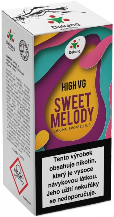 Liquid Dekang High VG Sweet Melody 10ml - 3mg (Broskev s citrónem)